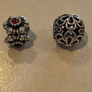 Pandora Flower Themed Beads
